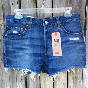 NWT Levi's 501 Mid Rise Jean Shorts Sansome Rush